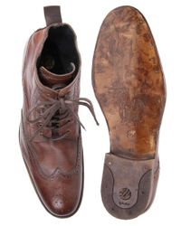 H by Hudson Brown H By Hudson Angus Brogue Boots for men