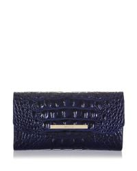 Brahmin | Blue Melbourne Collection Soft Checkbook Wallet | Lyst