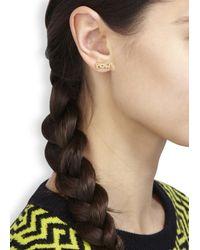 Noir Jewelry - Metallic X Dc Comics Pow Bang 18Kt Gold Plated Earrings - Lyst