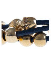 Alexander McQueen Black Skull Bead Bracelet