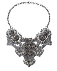 Deepa Gurnani - Metallic Crystal Statement Necklace- 13 In - Lyst