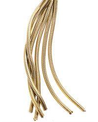 Isabel Marant Metallic Times Square Rosequartz Earrings
