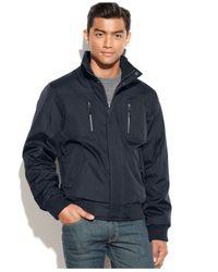 Calvin Klein - Blue Full-zip Ripstop Bomber Jacket for Men - Lyst