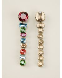 Lanvin | Multicolor Crystal Drop Clipon Earrings | Lyst