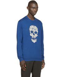 Markus Lupfer Blue Skull Jason Sweater for men