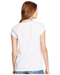 Denim & Supply Ralph Lauren - Natural Relaxed Graphic-Print Tee - Lyst