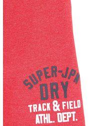 Superdry - Red Cotton Blend Jogging Shorts for Men - Lyst