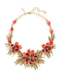 Oscar de la Renta | Metallic Russian Gold And Resin Wild Flower Necklace | Lyst