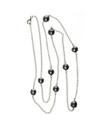 Black.co.uk Ophelia Tahitian Black Pearl Infinity Necklace Description Delivery & Returns Reviews