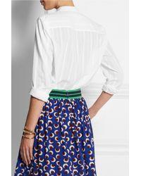 Stella McCartney White Eva Striped Cotton Top