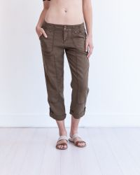 Marrakech | Brown Theodore Roll-up Linen Pant | Lyst