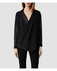 AllSaints Black Lucas Shirt
