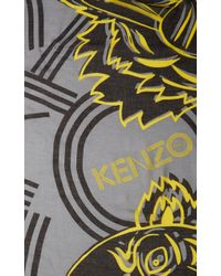 KENZO Yellow Big Monster Wool Scarf