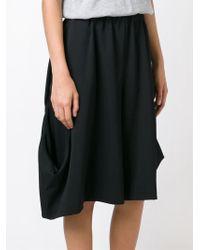 Comme des Garçons - Black Asymmetric Shorts - Lyst