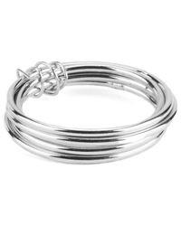 Maria Francesca Pepe - Metallic Set Of 5 Plain Rings - Lyst