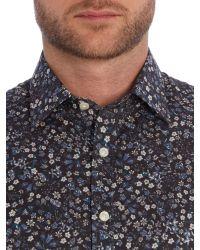Simon Carter | Blue Flower Fruit Liberty Shirt for Men | Lyst