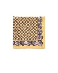 Petronius Metallic Micro-medallion Pocket Square for men