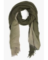 7 For All Mankind | Green Subtle Luxury Combo Scarf In Olive | Lyst