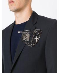 Jean Paul Gaultier | Black Charm Safety Pin Brooch | Lyst