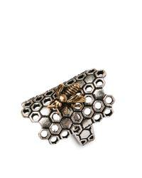 Lucky Brand Metallic Twotone Honeycomb Ring