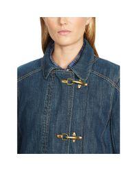 Ralph Lauren - Blue Metal Clasp Denim Jacket - Lyst