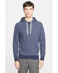 Norse Projects - Blue 'kettle' Raglan Sleeve Hoodie for Men - Lyst