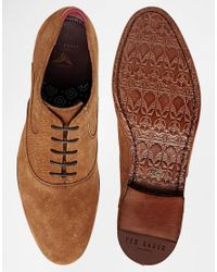 Ted Baker - Brown Luhwice Suede Oxford Shoes for Men - Lyst