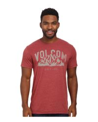 Volcom | Red Stonith Tee for Men | Lyst