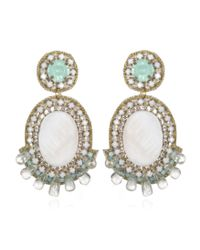 Suzanna Dai | White Ivory Small Prague Drop Earrings | Lyst