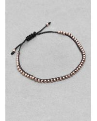 & Other Stories - Green Beadbraid Bracelet - Lyst