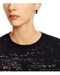 Tory Burch Black Crystal-pearl Double-stud Earring