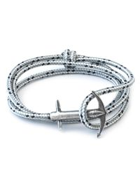 Anchor & Crew | Blue Grey Dash Admiral Rope Bracelet for Men | Lyst