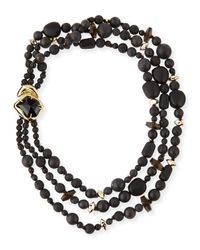 Alexis Bittar | Miss Havisham Three-Strand Black Onyx Necklace | Lyst