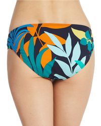 Tommy Bahama - Blue Printed Side Shirred Hipster Bikini Bottoms - Lyst