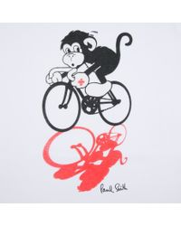 Paul Smith | White Year Of The Monkey T-Shirt for Men | Lyst
