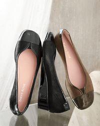 Taryn Rose Kenna Captoe Ballerina Flat Black