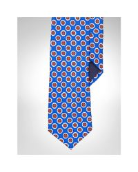 Polo Ralph Lauren - Blue Silk Foulard Narrow Tie for Men - Lyst