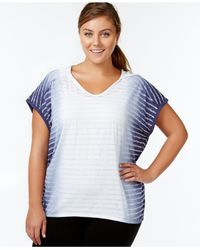 Calvin Klein | Blue Performance Plus Size Short-sleeve Hooded Tee | Lyst