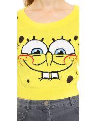 Moschino Spongebob Crop Top Yellow