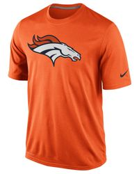 Nike Orange Men's Short-sleeve Denver Broncos Dri-fit T-shirt for men