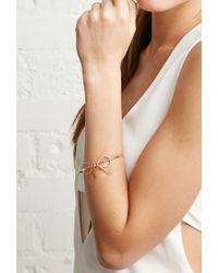 Forever 21 | Metallic Bow Wire Wrist Cuff | Lyst