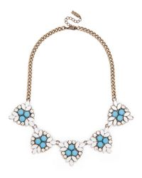 BaubleBar - Blue Crystal Holly Necklace - Lyst