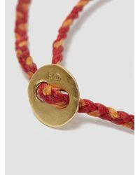 "Scosha - 1.2"" Id Bar Braided Bracelet Red & Orange for Men - Lyst"
