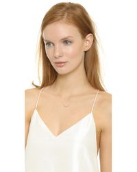 Blanca Monros Gomez - Metallic Seed Cluster Necklace - Gold/clear - Lyst