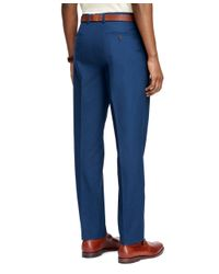 Brooks Brothers | Blue Milano Fit Supima® Cotton Poplin Pants for Men | Lyst