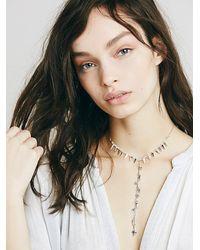 Free People - Metallic Womens Dew Drop Necklace - Lyst