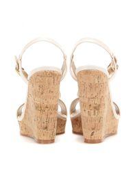 Roger Vivier Natural Leather Wedge Sandals