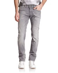DIESEL - Gray Safado Faded Jeans - Lyst