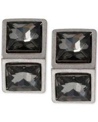 Kenneth Cole | Metallic New York Silver-Tone Geometric Bead Stud Earrings | Lyst