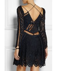 Zimmermann Blue Riot Eyelet Broderie Anglaise Playsuit